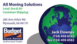 Moving Solutions business card