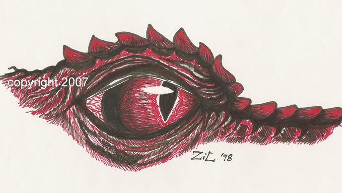 Dragon eye in marker