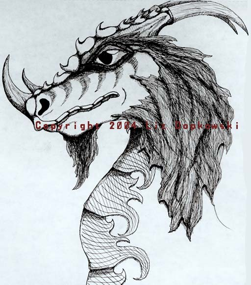 Dragon in pen